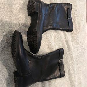 Ralph Lauren Black Leather Boots Sz 6.5